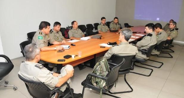 Oficiais da 1ª Seção da Corregedoria se reúnem na Fundação Tiradentes